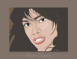 Rosario Dawson illustration by mambographic