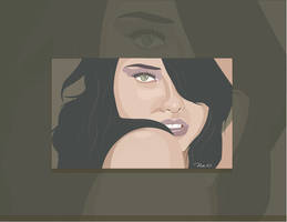 Adriana with black hair by mambographic