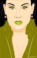 Model with green lips by mambographic