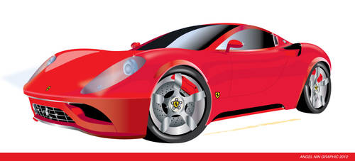FERRARI ILLUSTRATION by mambographic