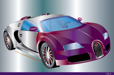 BUGATTI ILLUSTRATION by mambographic