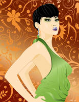 MODEL ILLUSTRATION WITH SHORT HAIR by mambographic