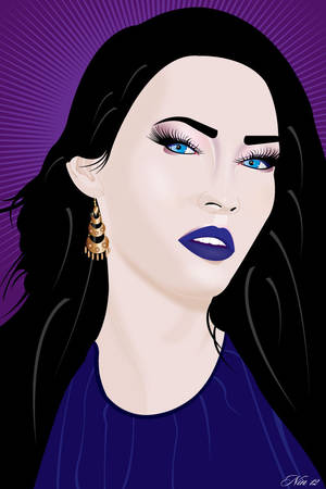 MODEL ILLUSTRATION WITH BLACK HAIR