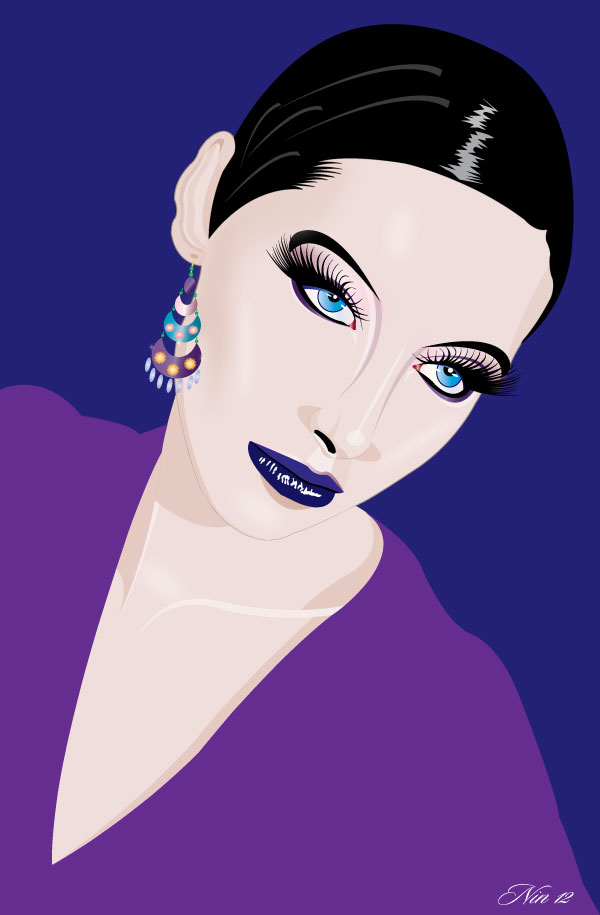 ILLUSTRATION WITH SHORT BLACK HAIR by mambographic