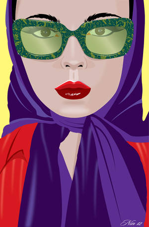 Illustration with glasses