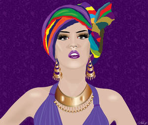 ILLUSTRATION OF MODEL WITH TURBAN