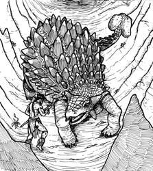 Ankylosaurus by jediboyy