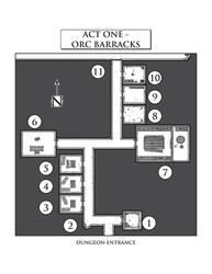 Firetop Mountain - Orc Barracks by jediboyy
