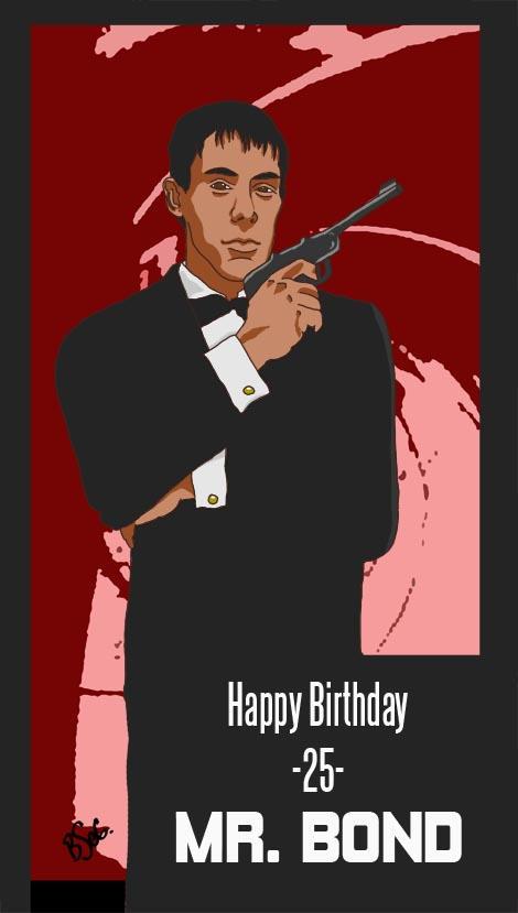 Happy Birthday Mr Bond by jediboyy