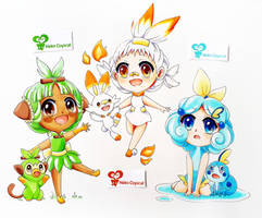New Starters Gijinka by NekoCopicat