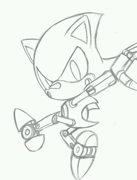 Classic metal sonic sketch by zack113 on deviantart for Metal sonic coloring pages