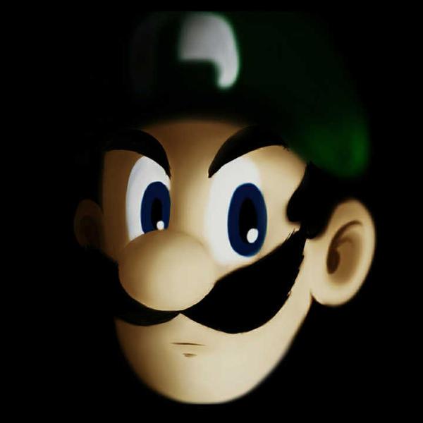 Luigi death stare by Zack113