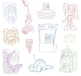 Mass Doodle - More Bunnies! (and cheese)
