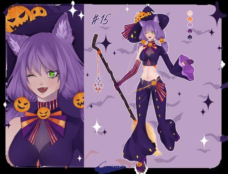 [OPEN] Halloween Adopt #15 - Neko Witch