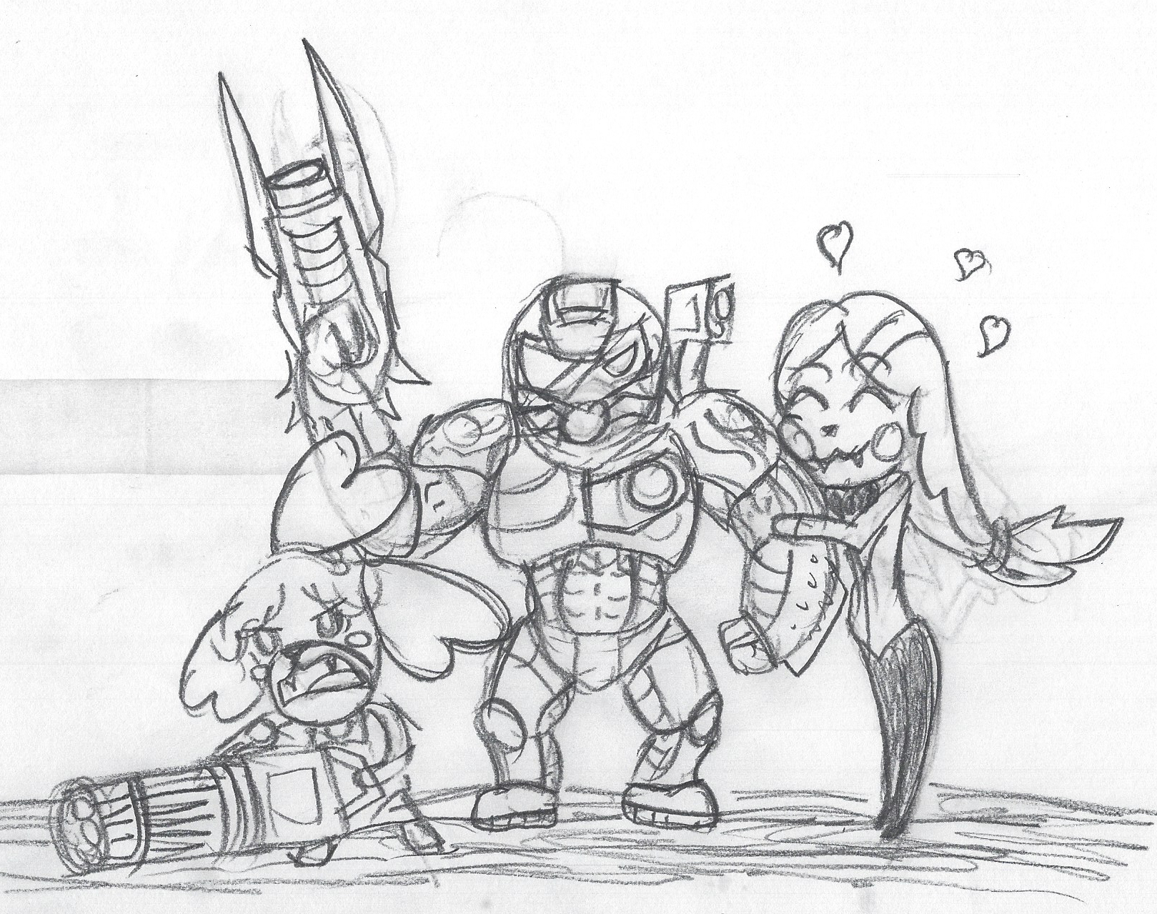 Doomguy Charlie And Isabelle By Toonholt On Deviantart