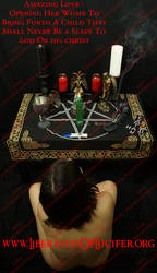Baphomet At Altar Sized Wm by EnlightenedOfLucifer