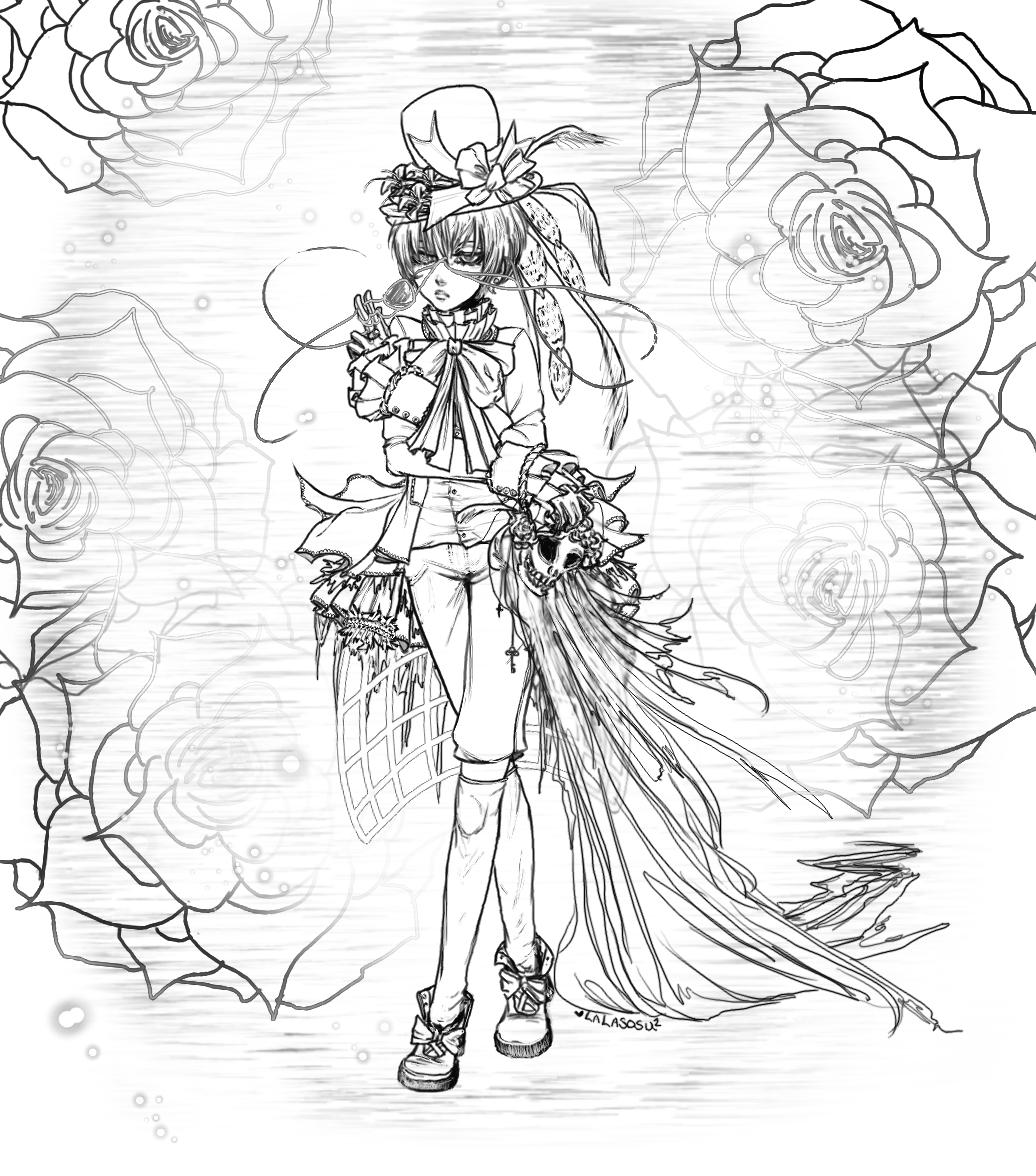 Ciel Phantomhive - Line art by LALASOSU2