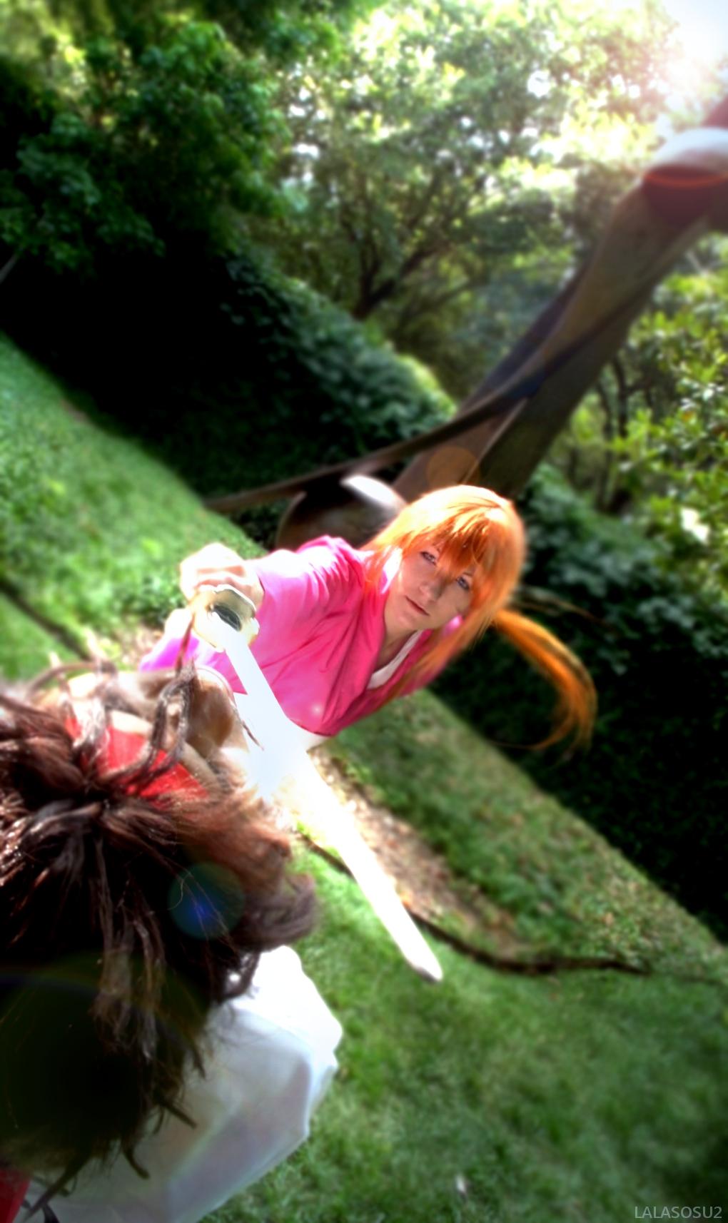 A-kon 24 - Sanosuke vs. Kenshin by LALASOSU2