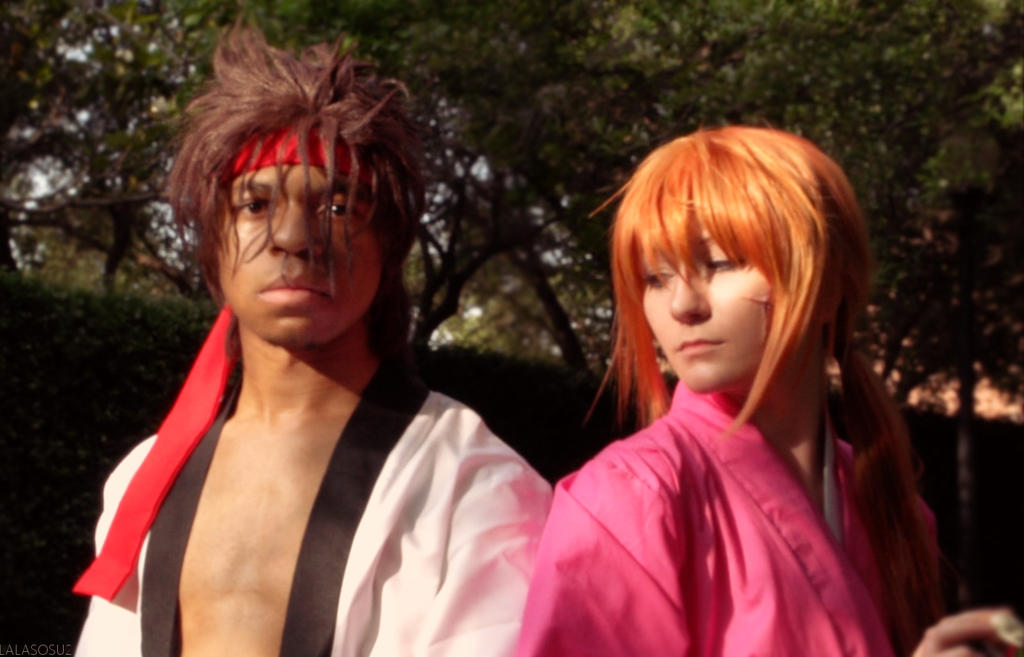 A-kon 24 - Sanosuke and Kenshin by LALASOSU2