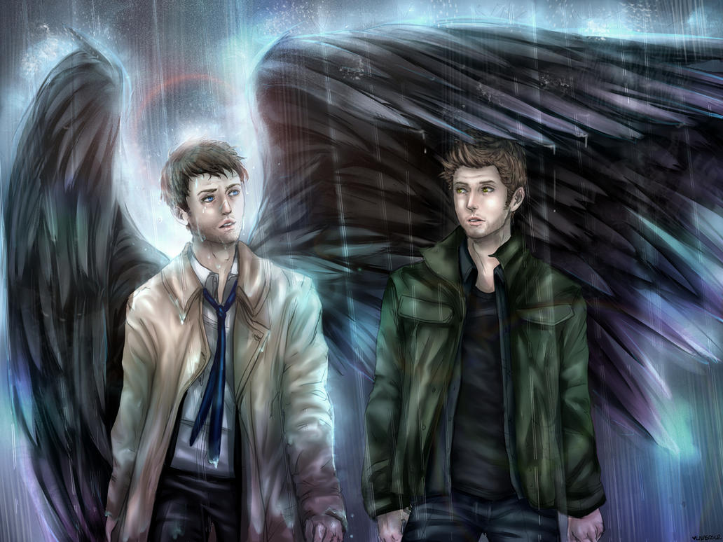 Cas and Dean - Commission for Alcyndar Miyako by LALASOSU2