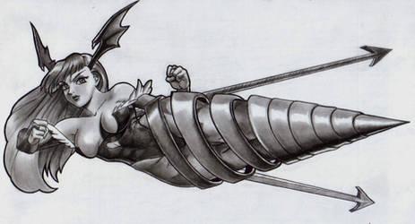 morrigan fighting mode