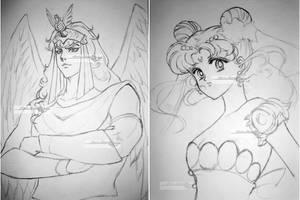 linearts japanese anime by aramismarron