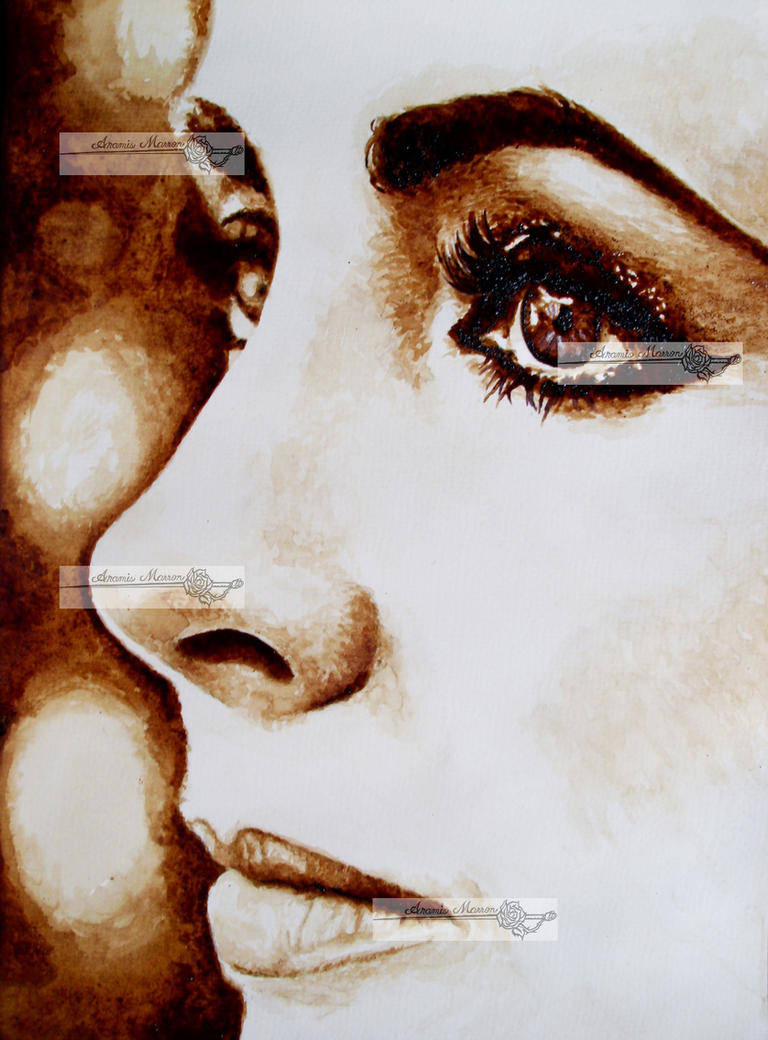 liz taylor coffee painting by aramismarron on deviantart
