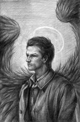SPN - Castiel by Guard-of-Minasteris