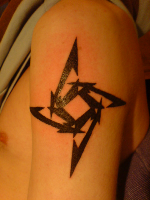 metallica ninja star tattoo by silvertribe on deviantart. Black Bedroom Furniture Sets. Home Design Ideas