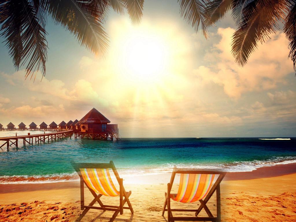 Paradise Background Stock by slaphappyturtle