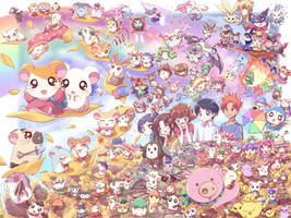 Hamtaro Wallpaper by cpeters1