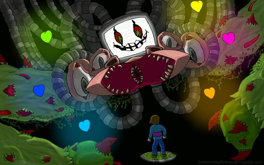 Undertale-Omega Flowey by BonnieBubblegumBunny on DeviantArt