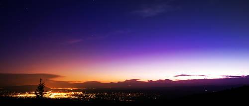 Sunset Over Santa Fe by michaelaranda