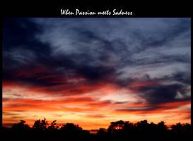 when Passion meets Sadness by Zandraka