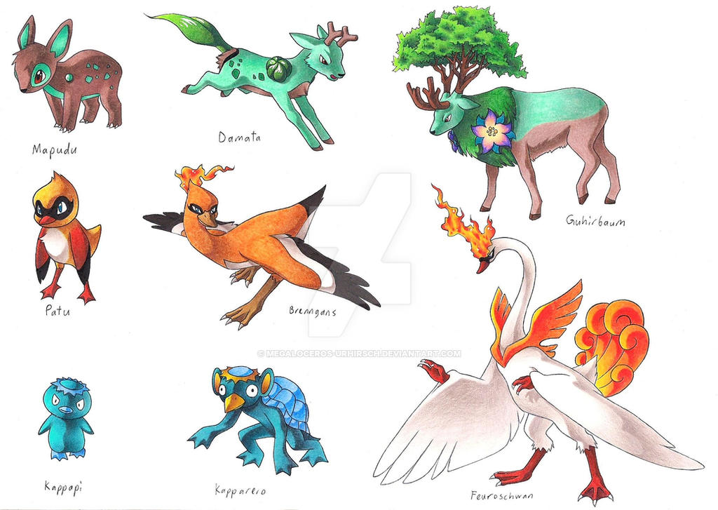 Fakemon starter 1 by megaloceros urhirsch on deviantart for Boden pokemon