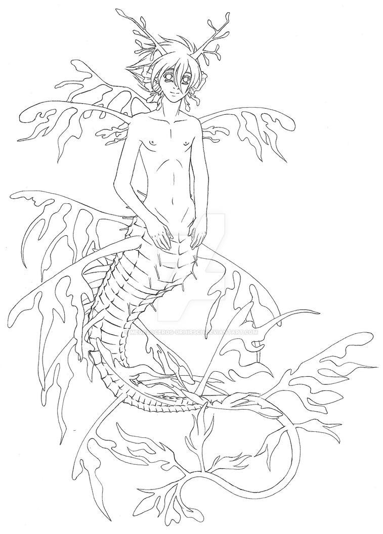 Matagu als Seedrachepferdchen by Megaloceros-Urhirsch
