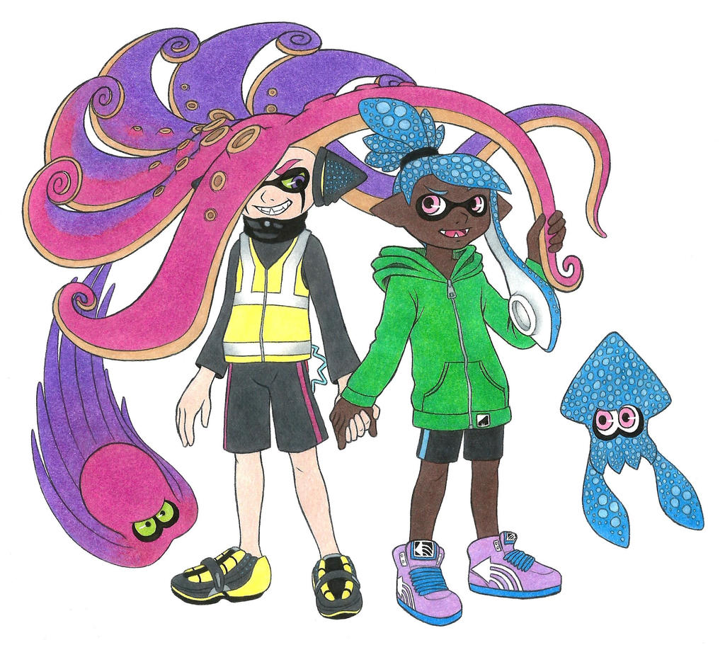 Splatoon OC: Very first Yanagi and Watase by Megaloceros