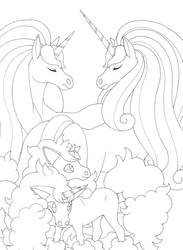 Rapidash and Ponyta male and female