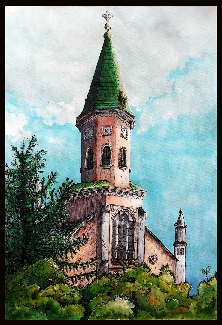 Roman Catholic Church of Lajosmizse by MalthusWolf