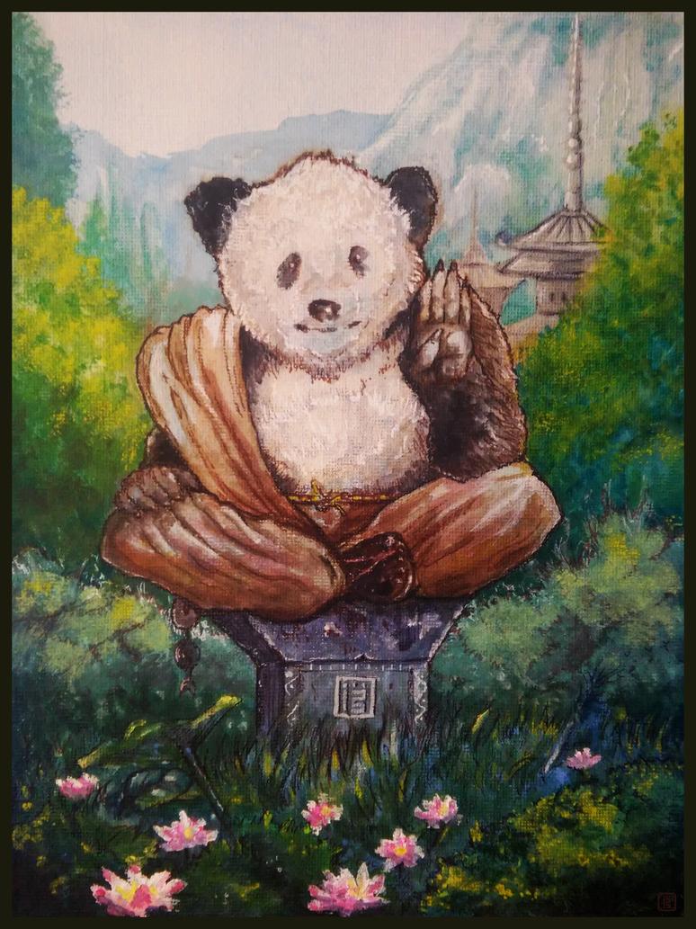 Zen panda by MalthusWolf