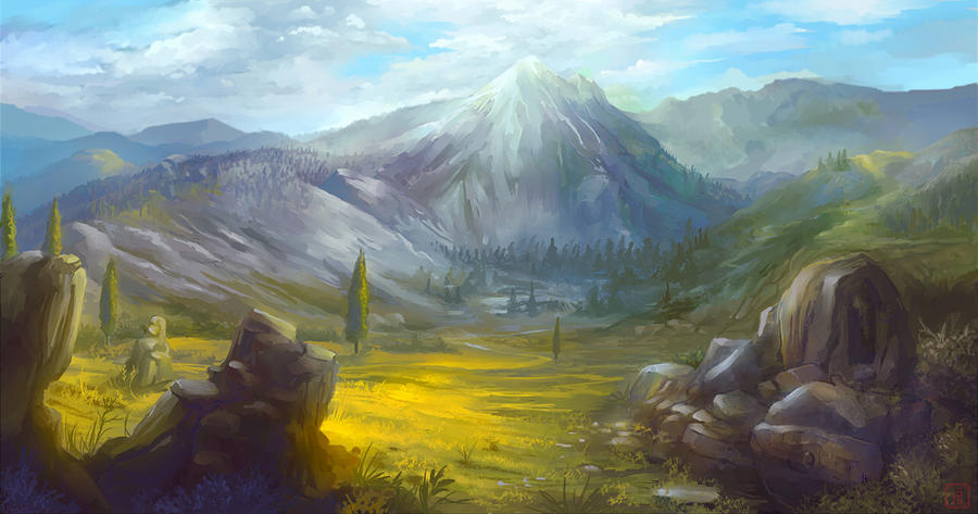Landscape practice by MalthusWolf