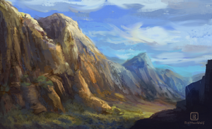 Daily sketch 4 - Valley