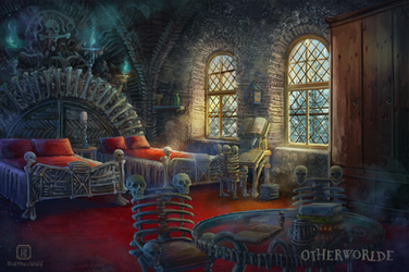 Bone dormitory room by MalthusWolf