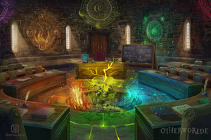 Elementalism classroom by MalthusWolf