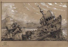 Sketch - Aral sea catastrophe by MalthusWolf