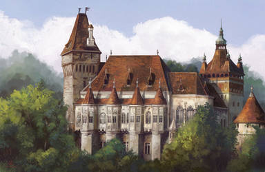 Study #10 Vajdahunyad castle by MalthusWolf