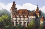 Study #10 Vajdahunyad castle by MalthusWolf