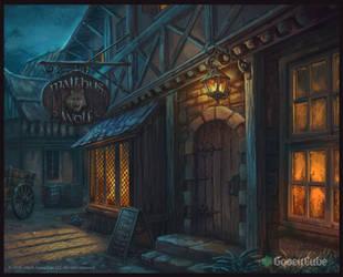 Malthus Wolf tavern by MalthusWolf