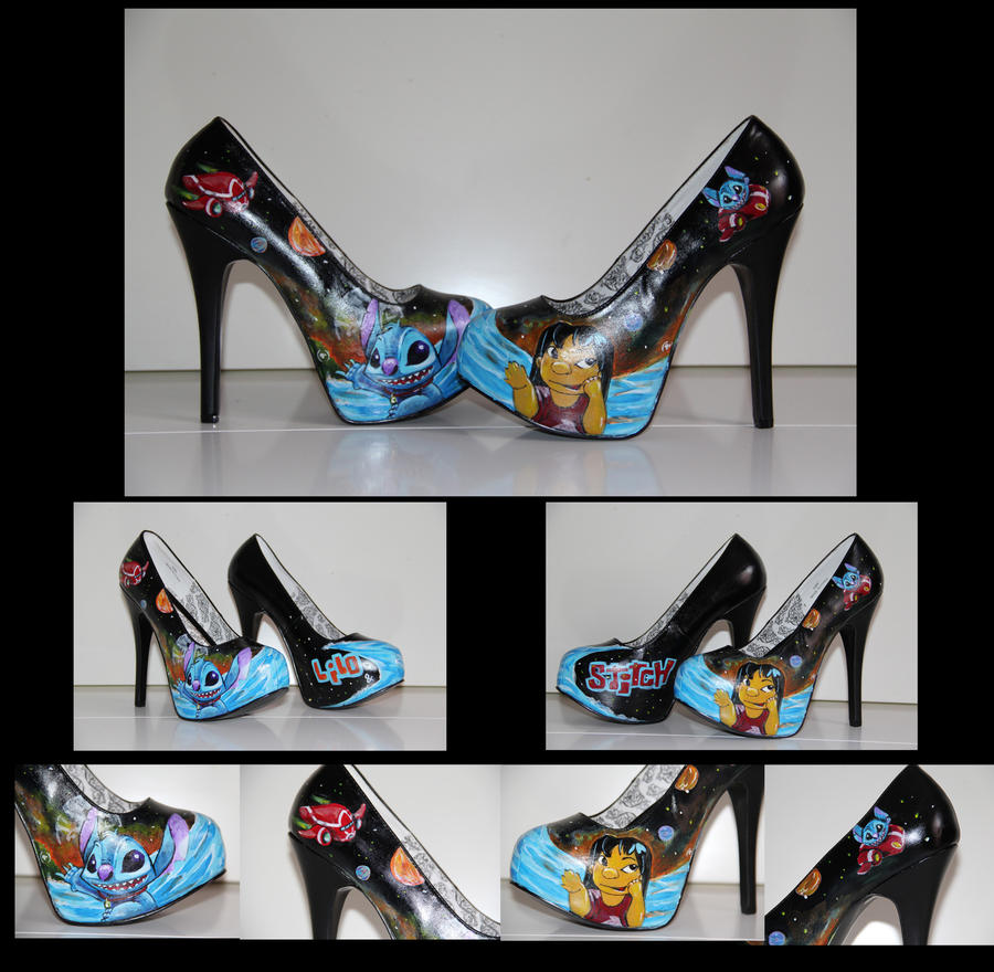 Stitch and lilo galaxie shoes by blacknorns on deviantart for Lilo and stitch arts and crafts