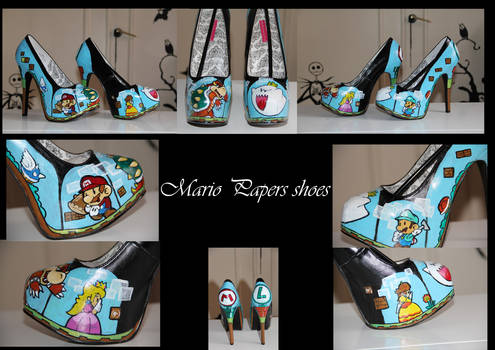 Mario and luigi custom shoes